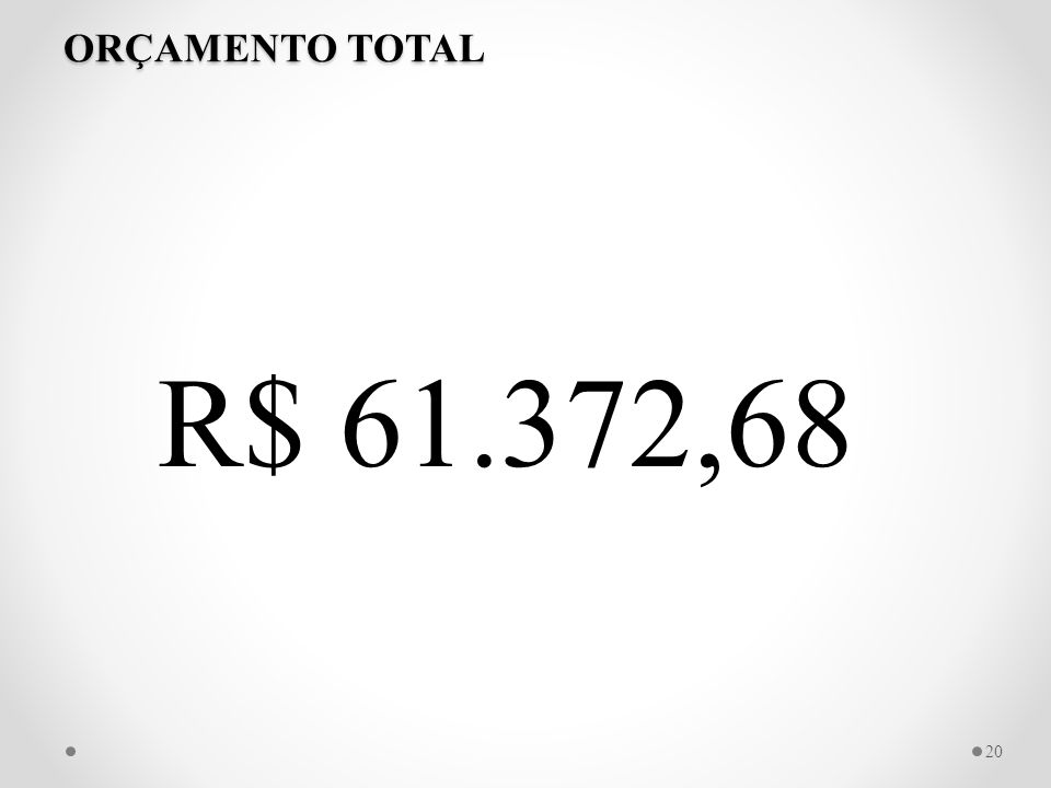 ORÇAMENTO TOTAL R$ 61.372,68 20