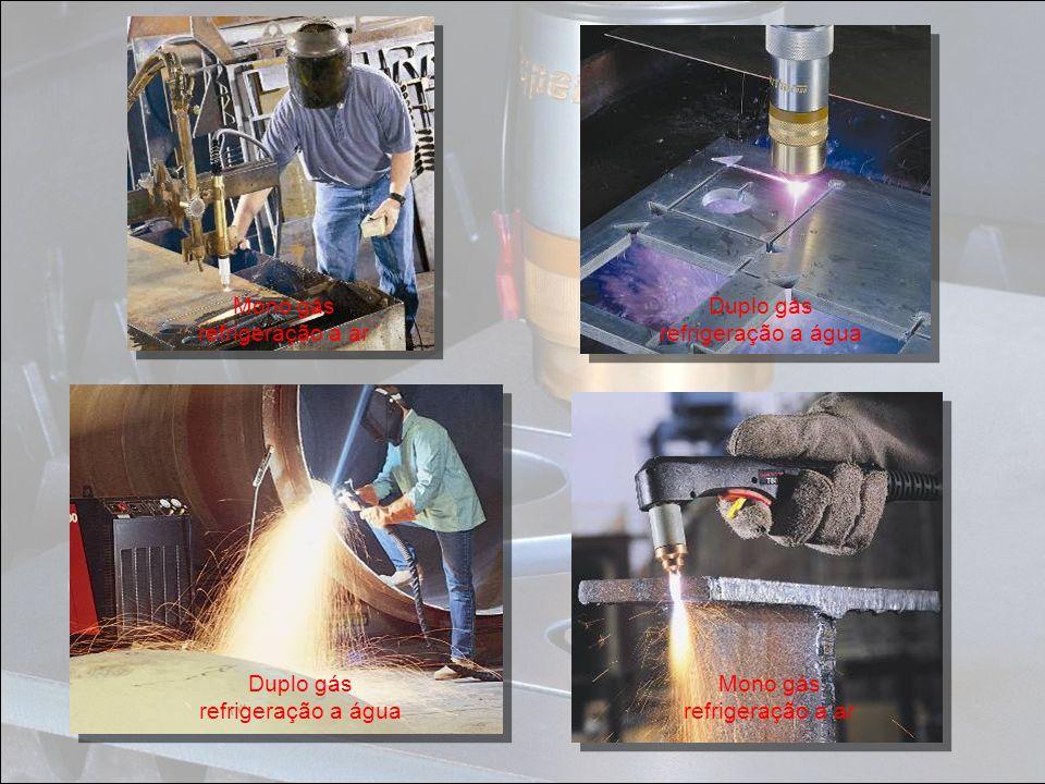Mono gás refrigeração a ar Duplo gás refrigeração a água Duplo gás refrigeração a água Mono gás refrigeração a ar