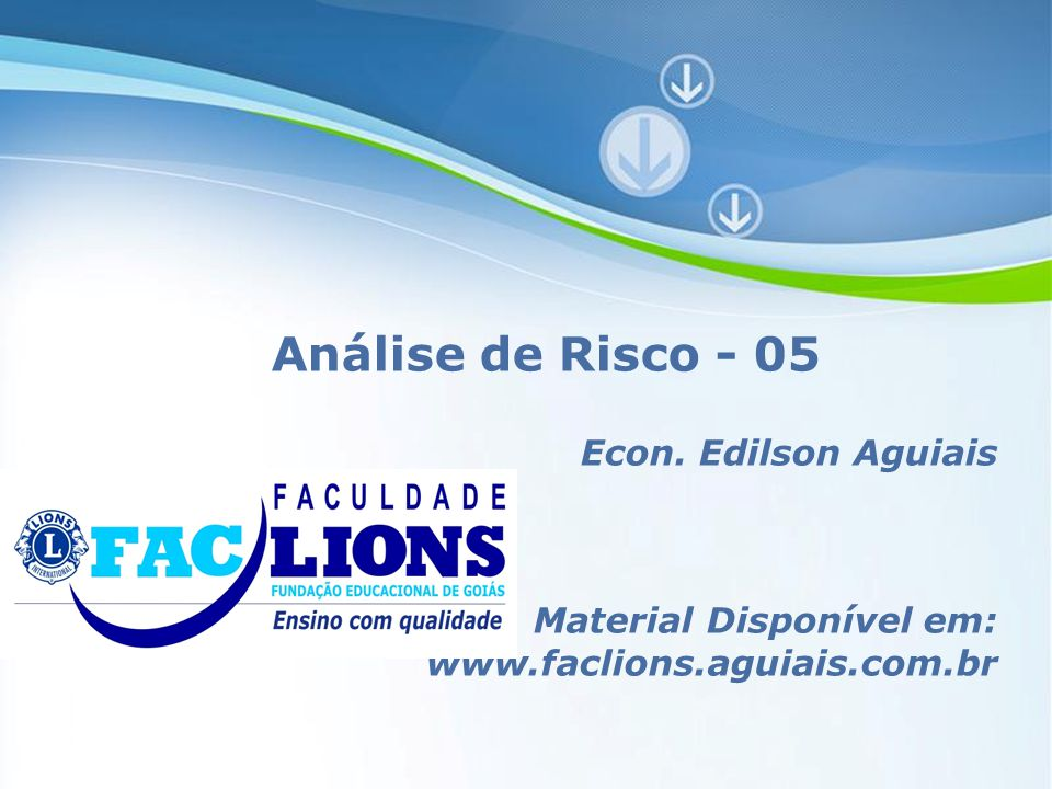Powerpoint Templates Page 1 Powerpoint Templates Análise de Risco - 05 Econ.