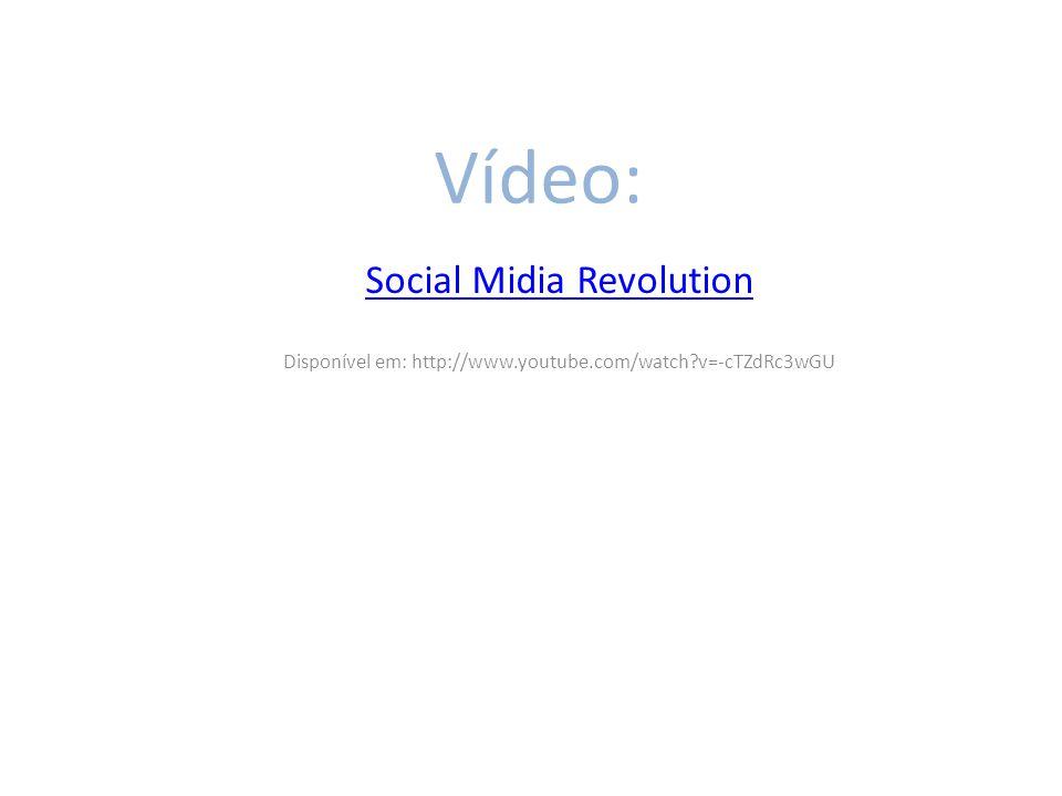 Vídeo: Social Midia Revolution Disponível em: http://www.youtube.com/watch?v=-cTZdRc3wGU