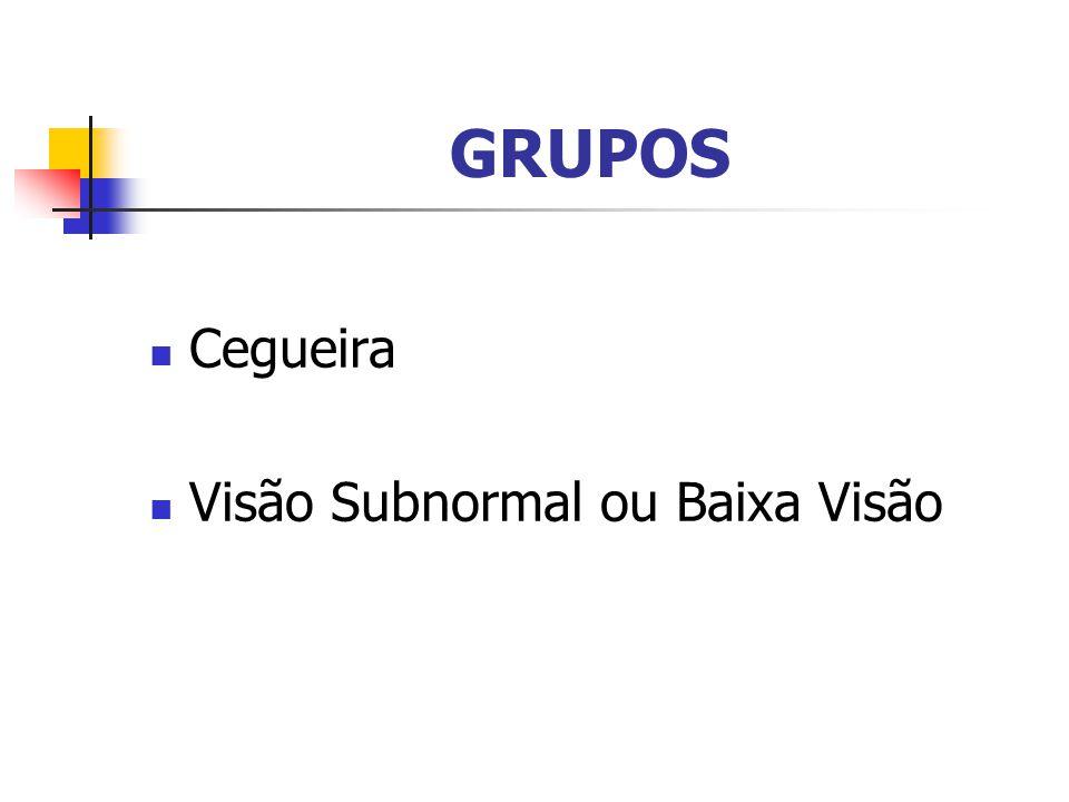 GRUPOS Cegueira Visão Subnormal ou Baixa Visão