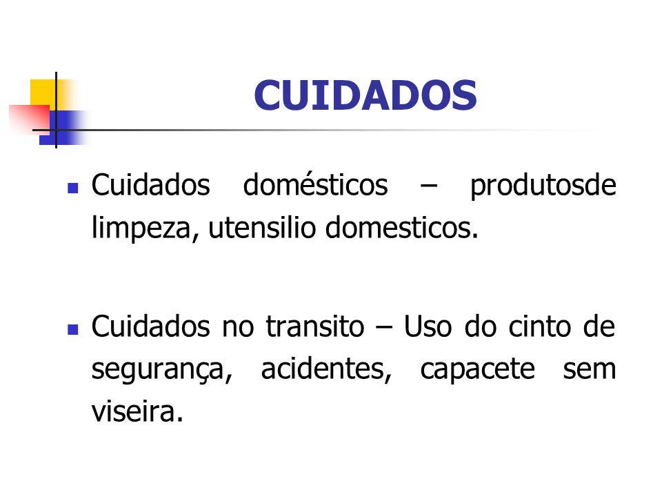 CUIDADOS Cuidados domésticos – produtosde limpeza, utensilio domesticos.