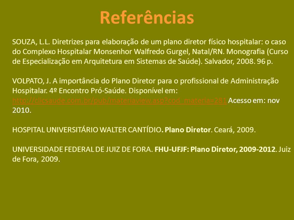 Referências SOUZA, L.L.