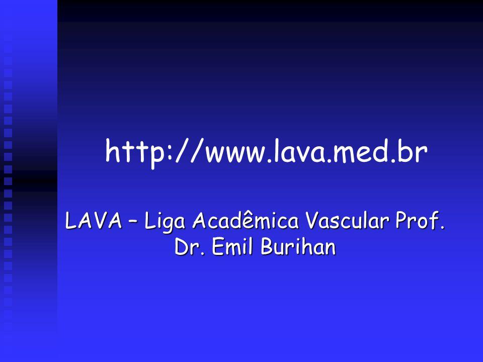 http://www.lava.med.br LAVA – Liga Acadêmica Vascular Prof. Dr. Emil Burihan
