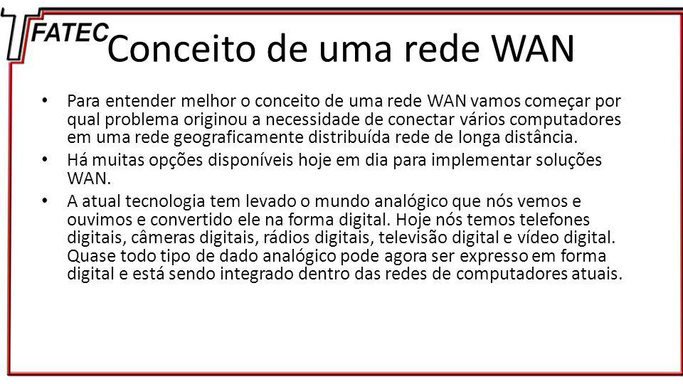 Diferenças LAN e WAN LAN's são pequenas redes, a maioria de uso privado, que interligam nós dentro de pequenas distâncias.