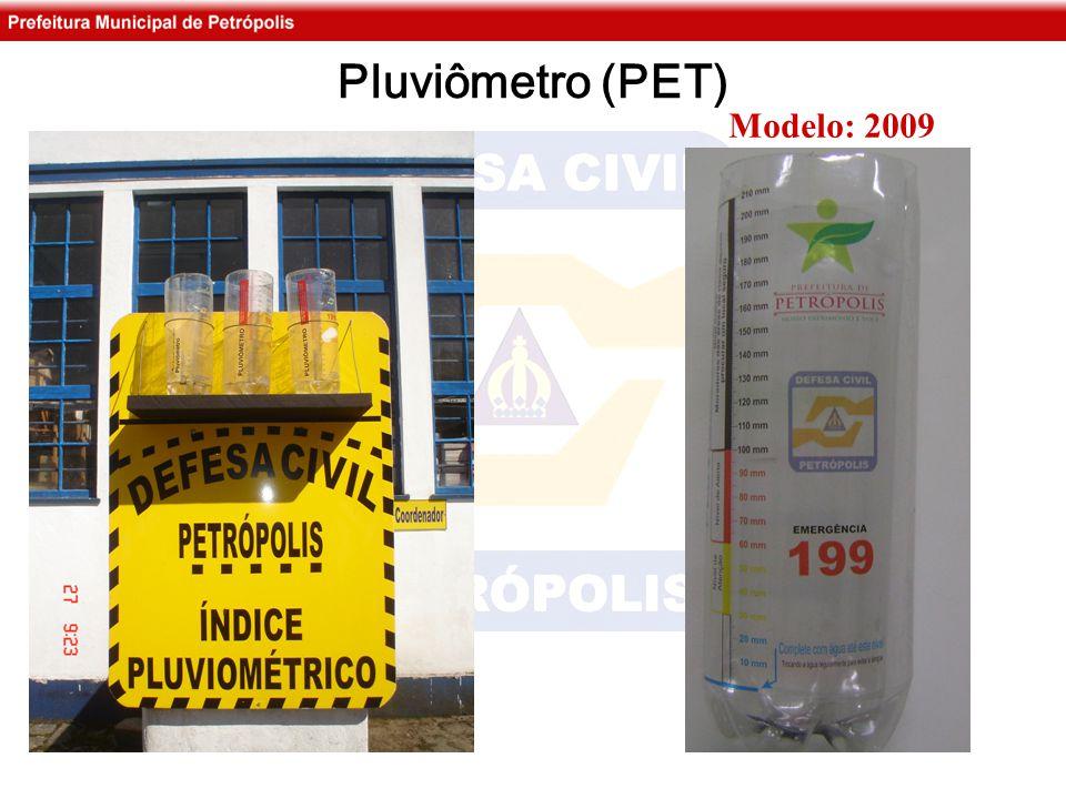 Pluviômetro (PET) Modelo: 2009