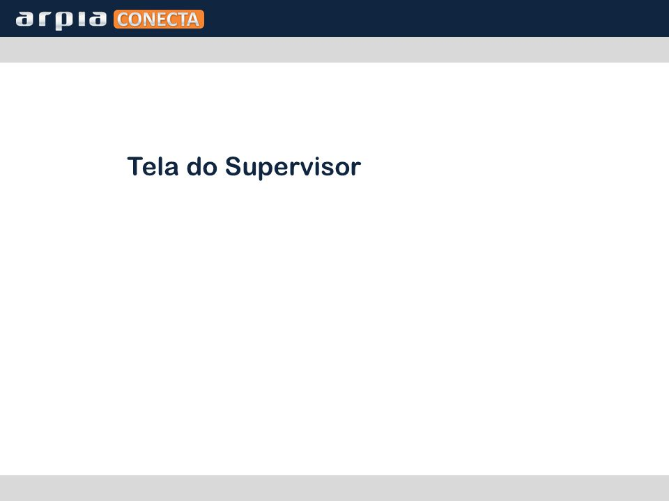 Tela do Supervisor