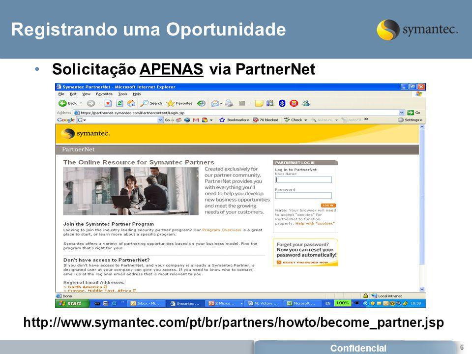 Confidencial 27 Identifique o vendedor Symantec