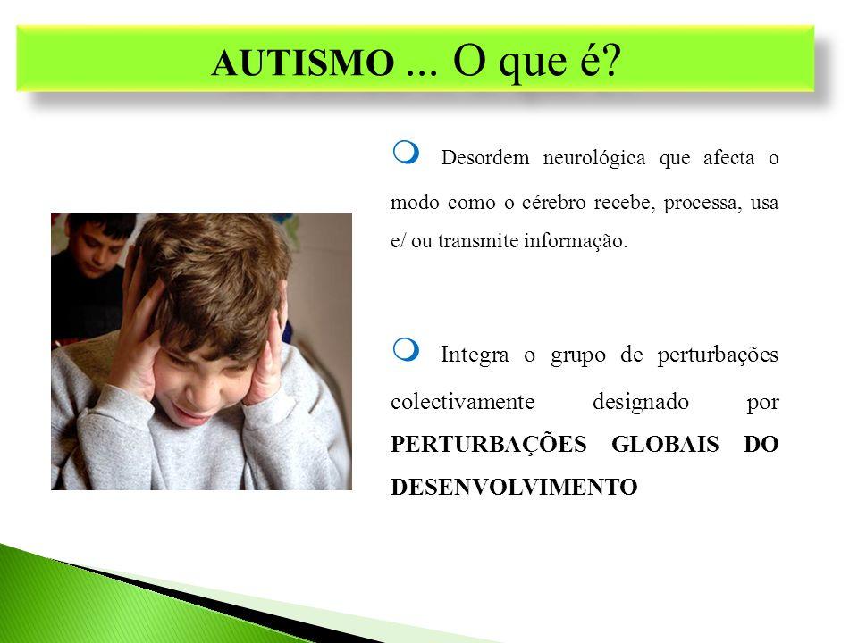 PGD Perturbação Autista (Autismo) PGD não autistas Síndrome de Asperger Síndrome X frágil Síndrome de Rett Perturbação desintegrativa da segunda infância Perturbação global do desenvolvimento SOE