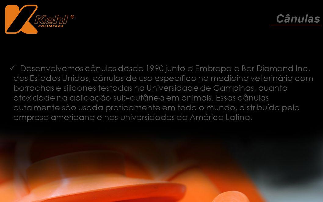 Desenvolvemos cânulas desde 1990 junto a Embrapa e Bar Diamond Inc. dos Estados Unidos, cânulas de uso específico na medicina veterinária com borracha