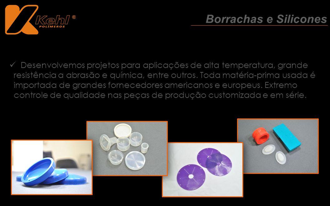 Desenvolvemos projetos para aplicações de alta temperatura, grande resistência a abrasão e química, entre outros. Toda matéria-prima usada é importada