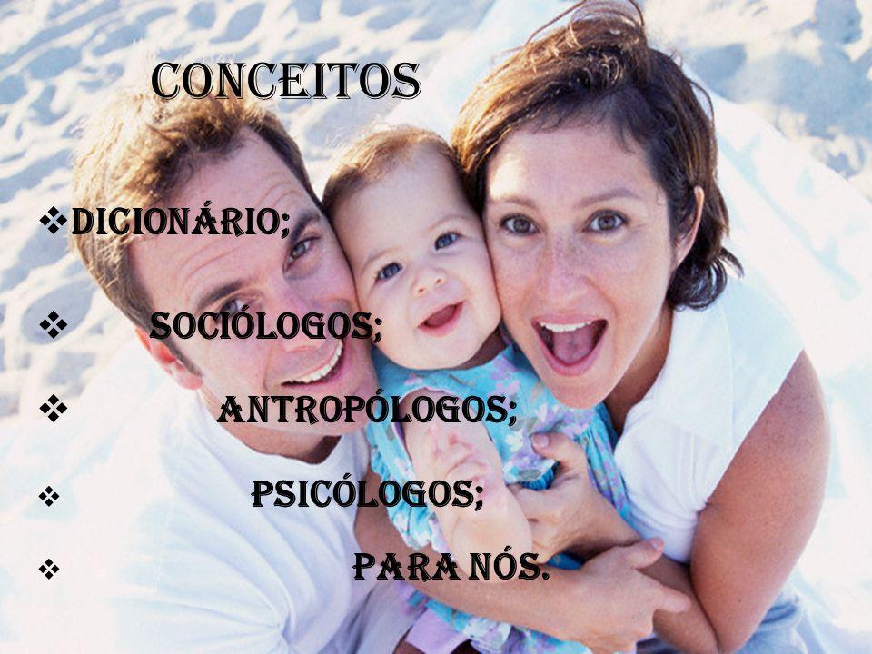 CONCEITOS  Dicionário;  Sociólogos;  Antropólogos;  Psicólogos;  Para nós.