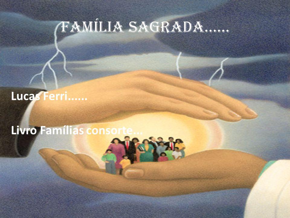 Lucas Ferri...... Livro Famílias consorte... FAMÍLIA SAGRADA......