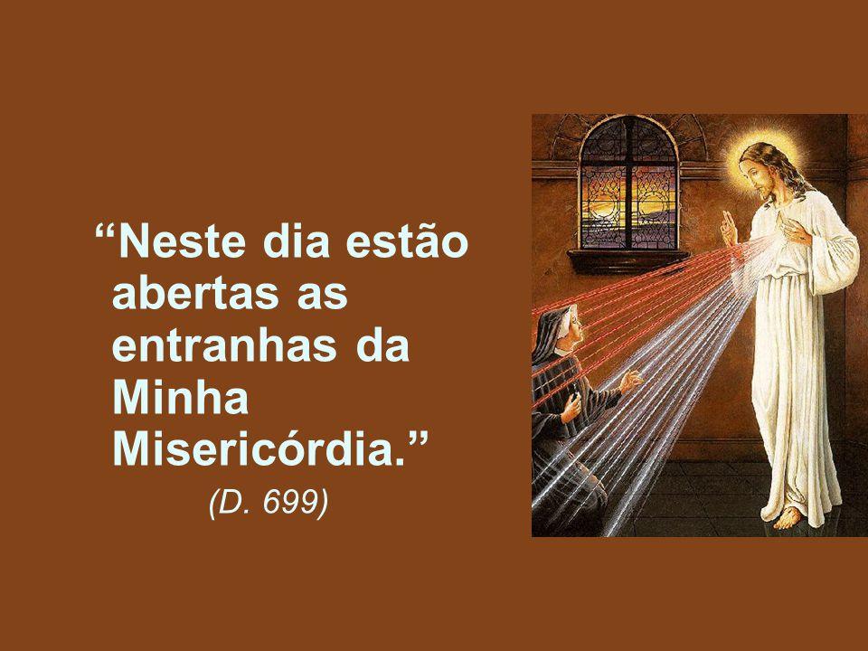 """""""Neste dia estão abertas as entranhas da Minha Misericórdia."""" (D. 699)"""
