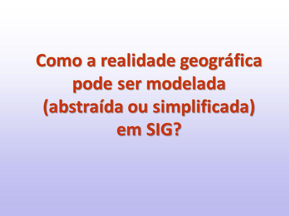 Como a realidade geográfica pode ser modelada (abstraída ou simplificada) em SIG?
