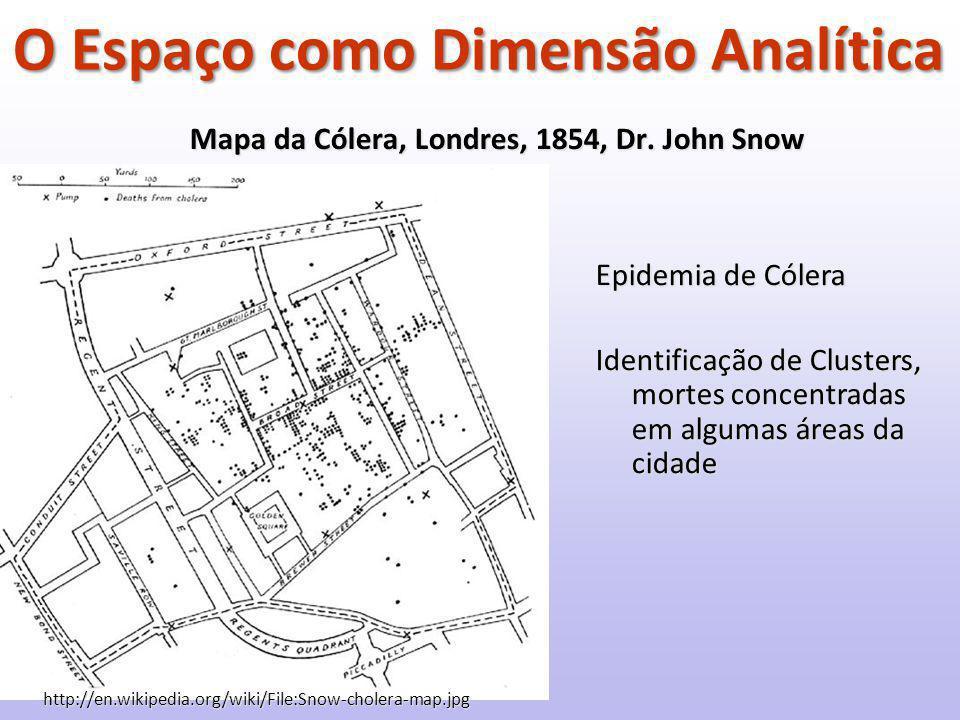 Mapa da Cólera, Londres, 1854, Dr.