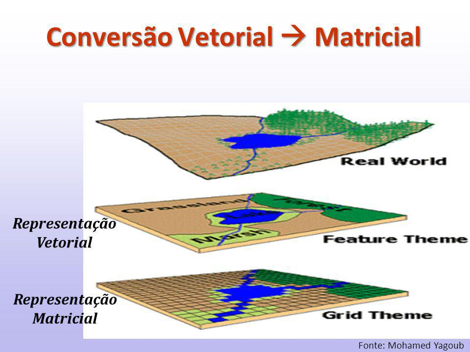 Representação Matricial Representação Vetorial Fonte: Mohamed Yagoub Conversão Vetorial  Matricial