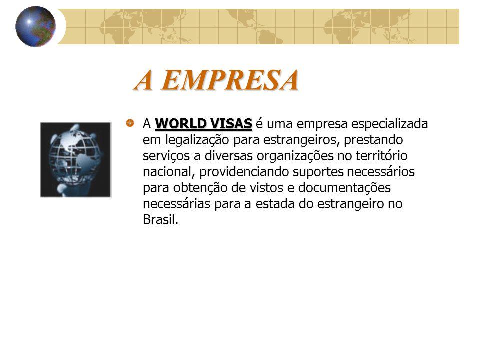 WORLD VISAS Documentação e Legalização para Estrangeiros Ltda  A melhor maneira do sucesso é o bom atendimento e a satisfação de nossos clientes.  E