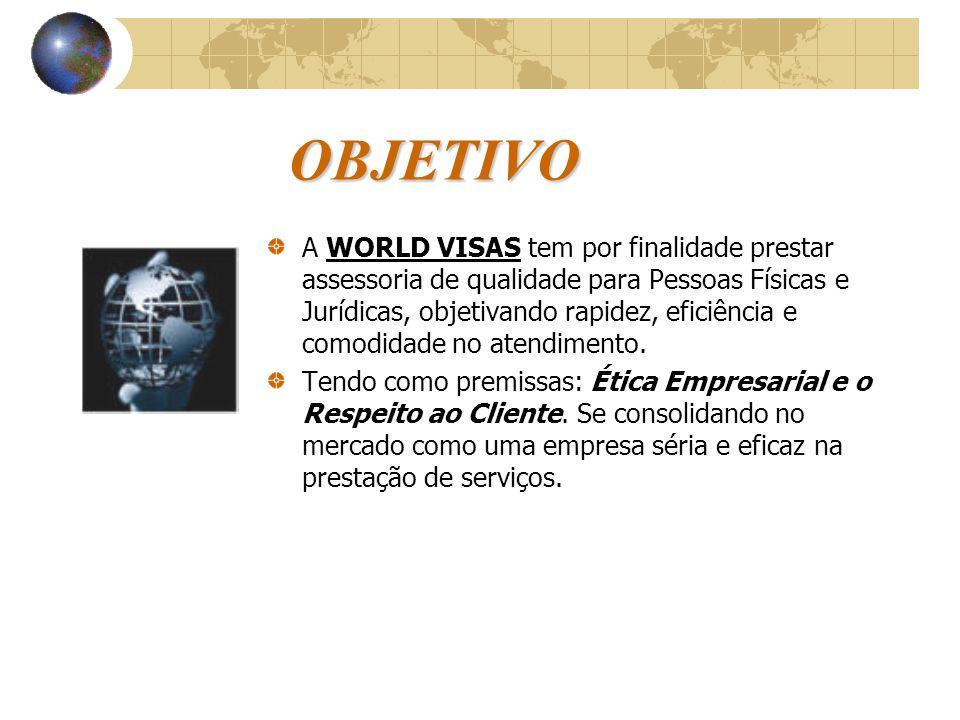CLIENTES Os principais clientes da WORLD VISAS destacam-se em: Empresas do Setor de Petróleo e Gás; Empresas do Segmento Automobilístico; Empresas do