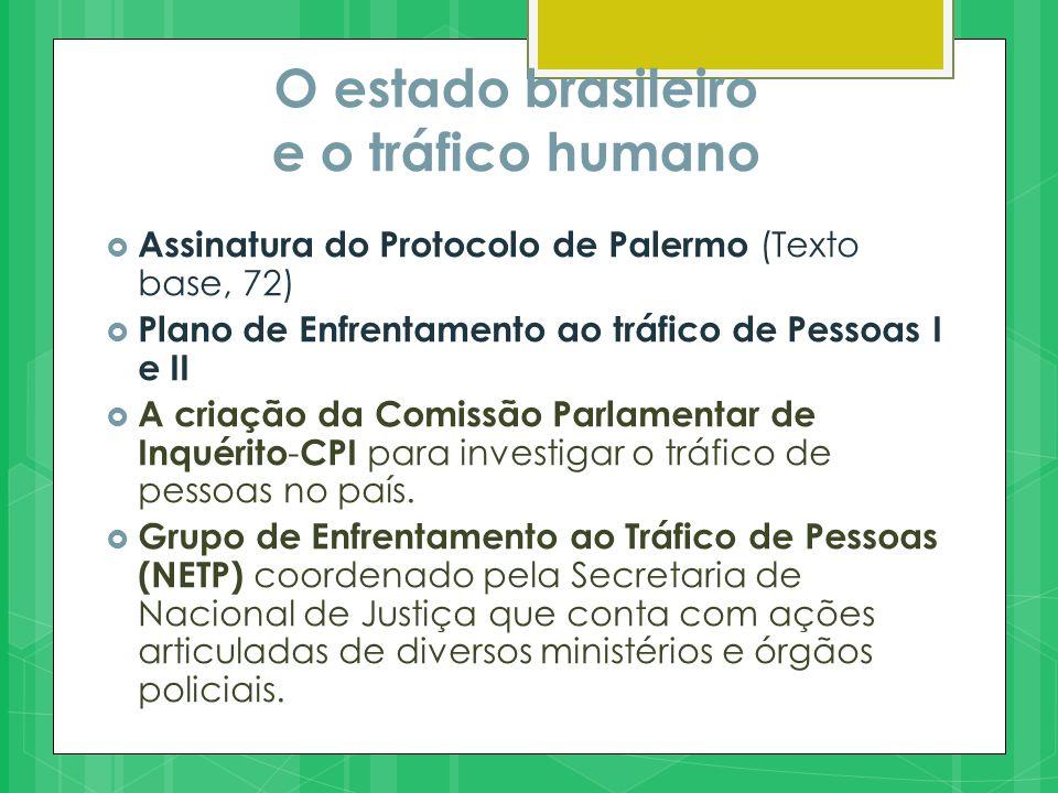 O estado brasileiro e o tráfico humano  II Plano (2013-2016) Prevê ações a serem Executadas em cinco linhas operativas: 1.