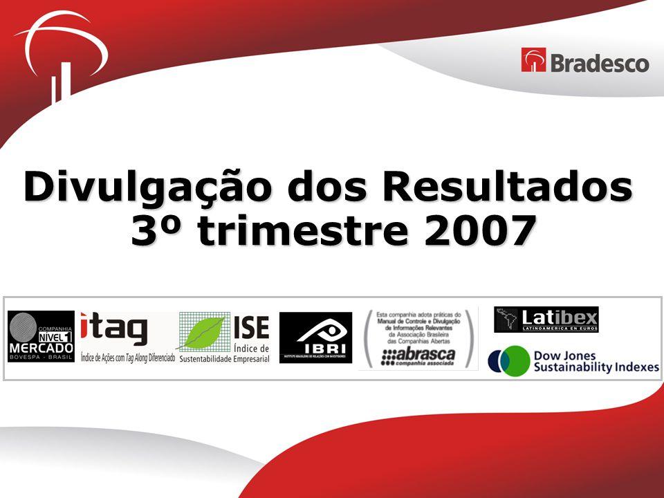 Divulgação dos Resultados 3º trimestre 2007
