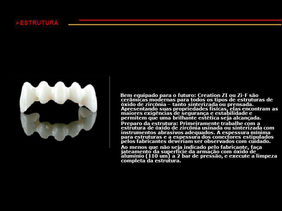  ESTRUTURA Bem equipado para o futuro: Creation ZI ou Zi-F são cerâmicas modernas para todos os tipos de estruturas de óxido de zircônia – tanto sinterizada ou prensada.