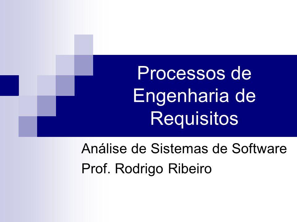 Processos de Engenharia de Requisitos Análise de Sistemas de Software Prof. Rodrigo Ribeiro