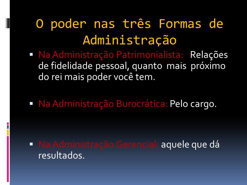 As Três Formas de Administração Pública Administração Pública Gerencial  Busca pela flexibilidade;  Redução de Custos; enxugamento de estruturas; re