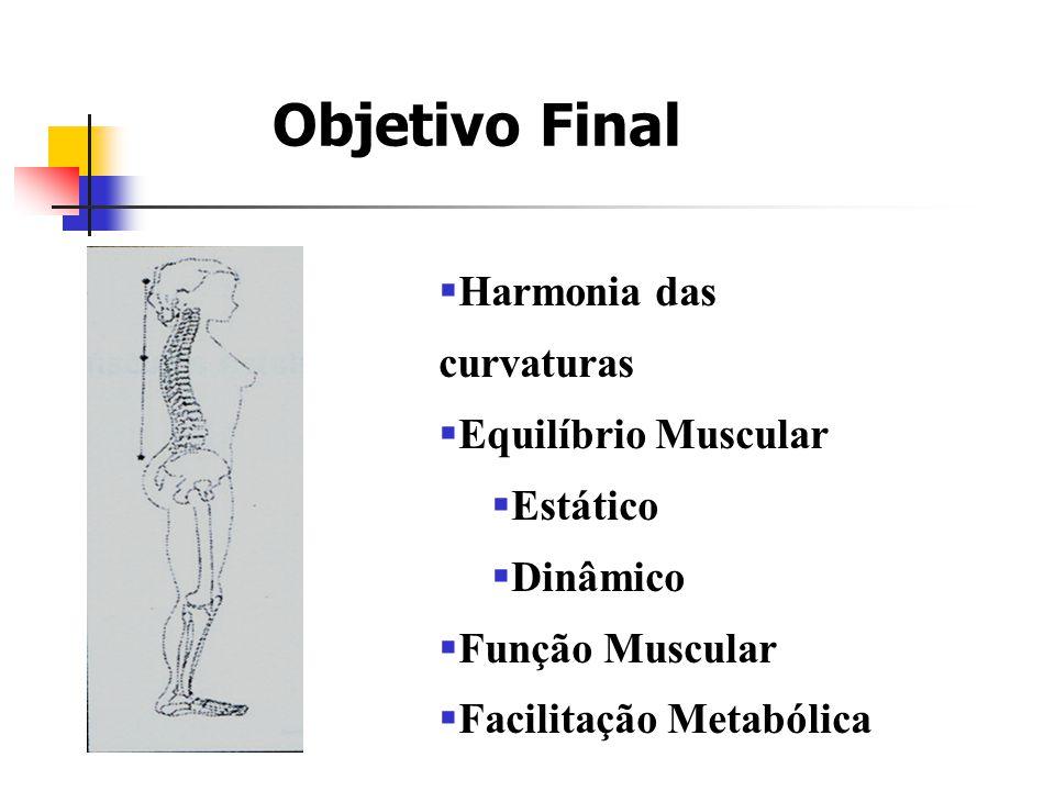 Objetivo Final  Harmonia das curvaturas  Equilíbrio Muscular  Estático  Dinâmico  Função Muscular  Facilitação Metabólica