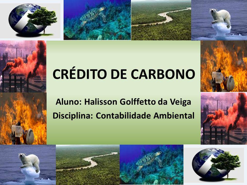 CRÉDITO DE CARBONO Aluno: Halisson Golffetto da Veiga Disciplina: Contabilidade Ambiental