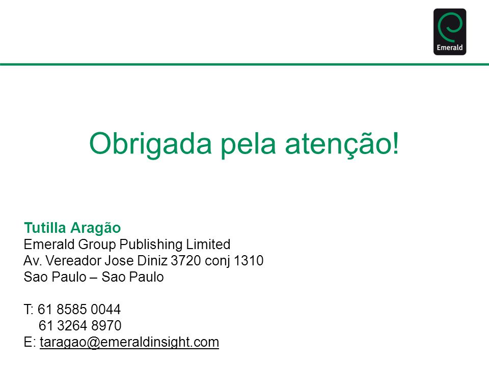 Tutilla Aragão Emerald Group Publishing Limited Av.
