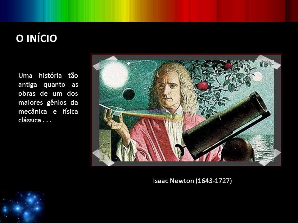O INÍCIO Uma história tão antiga quanto as obras de um dos maiores gênios da mecânica e física clássica... Isaac Newton (1643-1727)