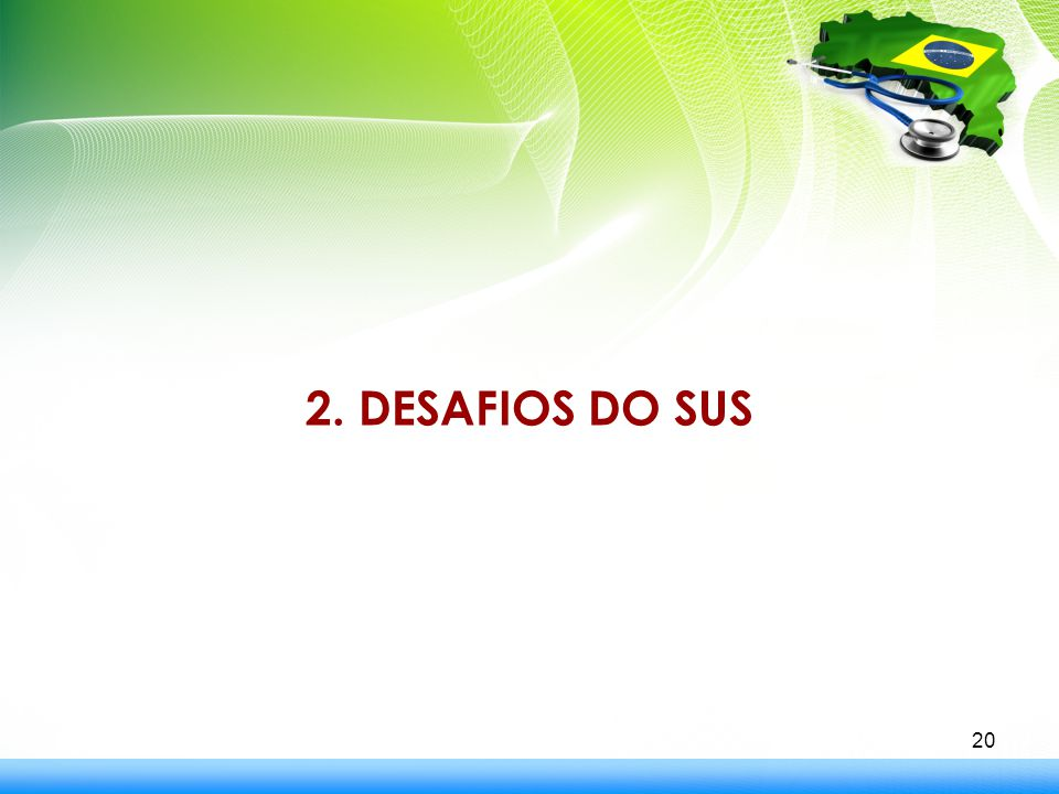 2. DESAFIOS DO SUS 20