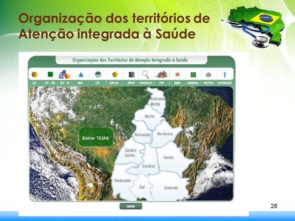 26 Organização dos territórios de Atenção integrada à Saúde