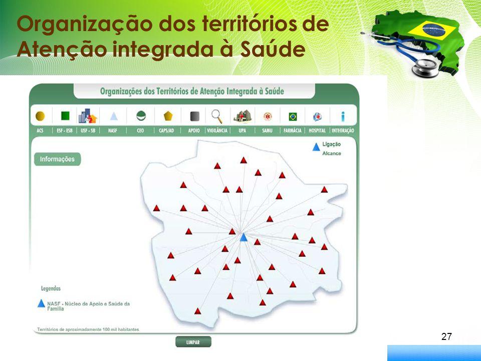 27 Organização dos territórios de Atenção integrada à Saúde