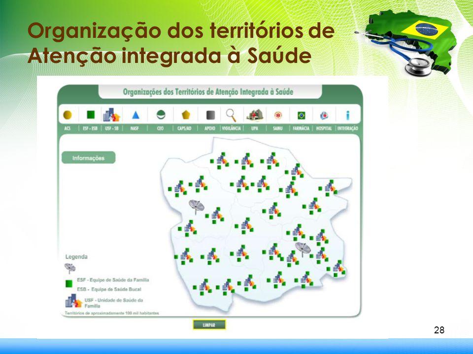 28 Organização dos territórios de Atenção integrada à Saúde