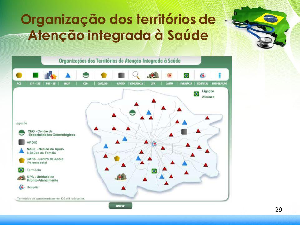 29 Organização dos territórios de Atenção integrada à Saúde