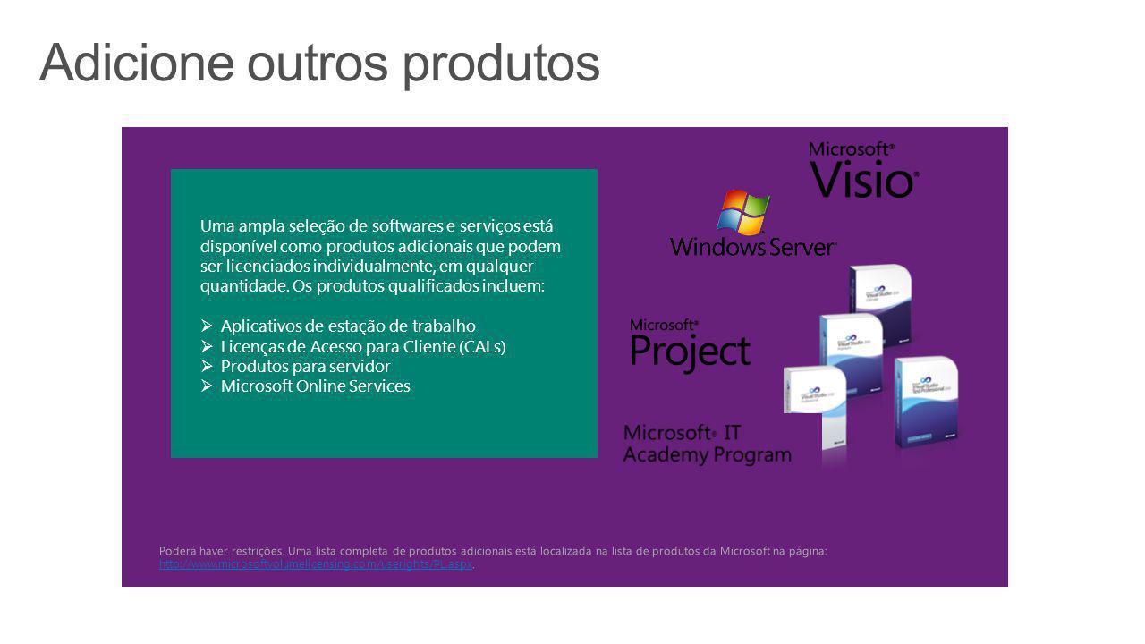 Nosso contrato de licenciamento por volume com a Microsoft é um componente fundamental da nossa estratégia de fornecer serviços consolidados de baixo custo e alto valor aos alunos, professores e funcionários...