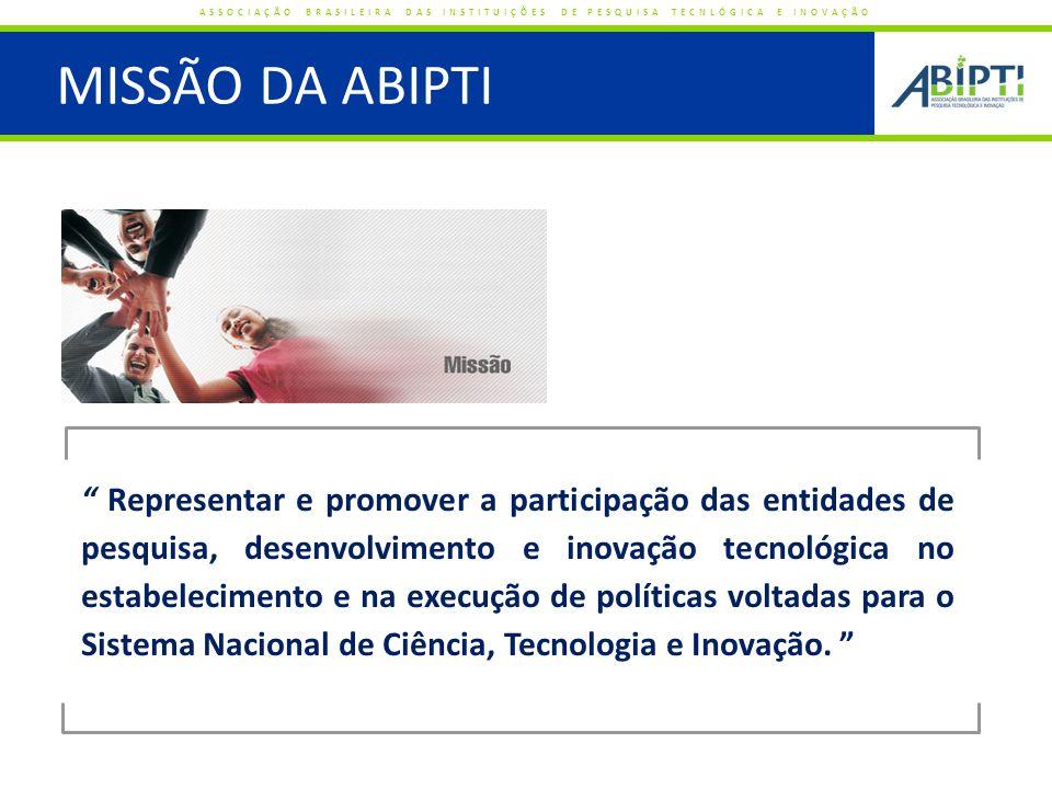ASSOCIADOS POR REGIÃO ASSOCIAÇÃO BRASILEIRA DAS INSTITUIÇÕES DE PESQUISA TECNLÓGICA E INOVAÇÃO TOTAL DE ASSOCIADOS: 170 Região Centro-Oeste Região Sul Região Sudeste Região Nordeste Região Norte 21 (12%) 16 (9%) 64 (38%) 51 (30%) 18 (11%)