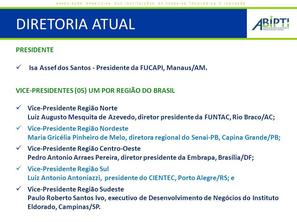 A ABIPTI PRESENTE NO SNCTI ASSOCIAÇÃO BRASILEIRA DAS INSTITUIÇÕES DE PESQUISA TECNLÓGICA E INOVAÇÃO Empresas do Setor Privado Empresas do Setor Privado Empresas Estatais Empresas Estatais EPDIs Públicas EPDIs Privadas Associações Setoriais Associações Setoriais FAPs Secretarias Estaduais de C&T Secretarias Estaduais de C&T CNPq MCTI FINEP Conselho Consultivo da FINEP Conselhos de Admin.