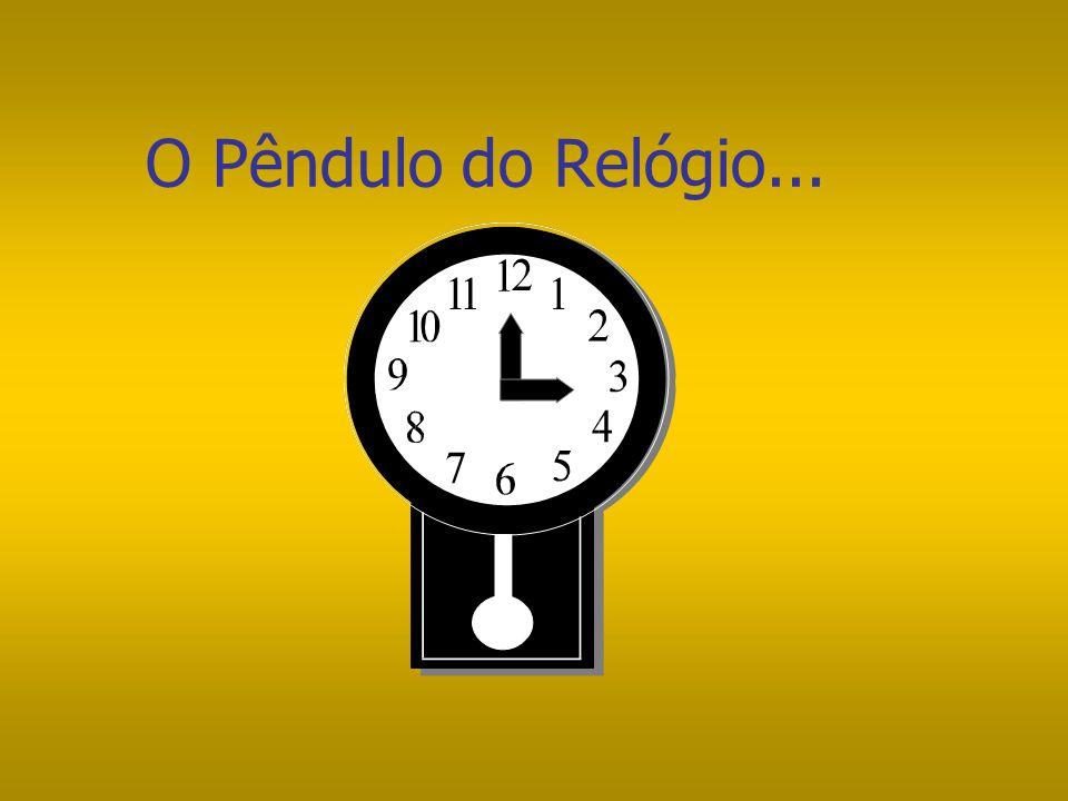 """O Pêndulo do Relógio... Fique olhando para o pêndulo de um relógio: Qual o movimento que o pêndulo faz? A maioria das pessoas dirão que ele """"vai e vol"""