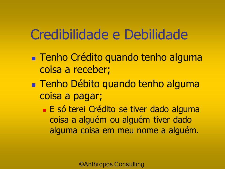 "Credibilidade e Debilidade Outro conceito é o que vem da ""Contabilidade"" - das chamadas partidas dobradas de ""Débito e Crédito""; O que falta no mundo"