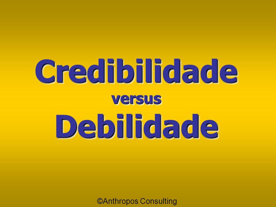 Credibilidade e Debilidade Tenho Crédito quando tenho alguma coisa a receber; Tenho Débito quando tenho alguma coisa a pagar; E só terei Crédito se ti