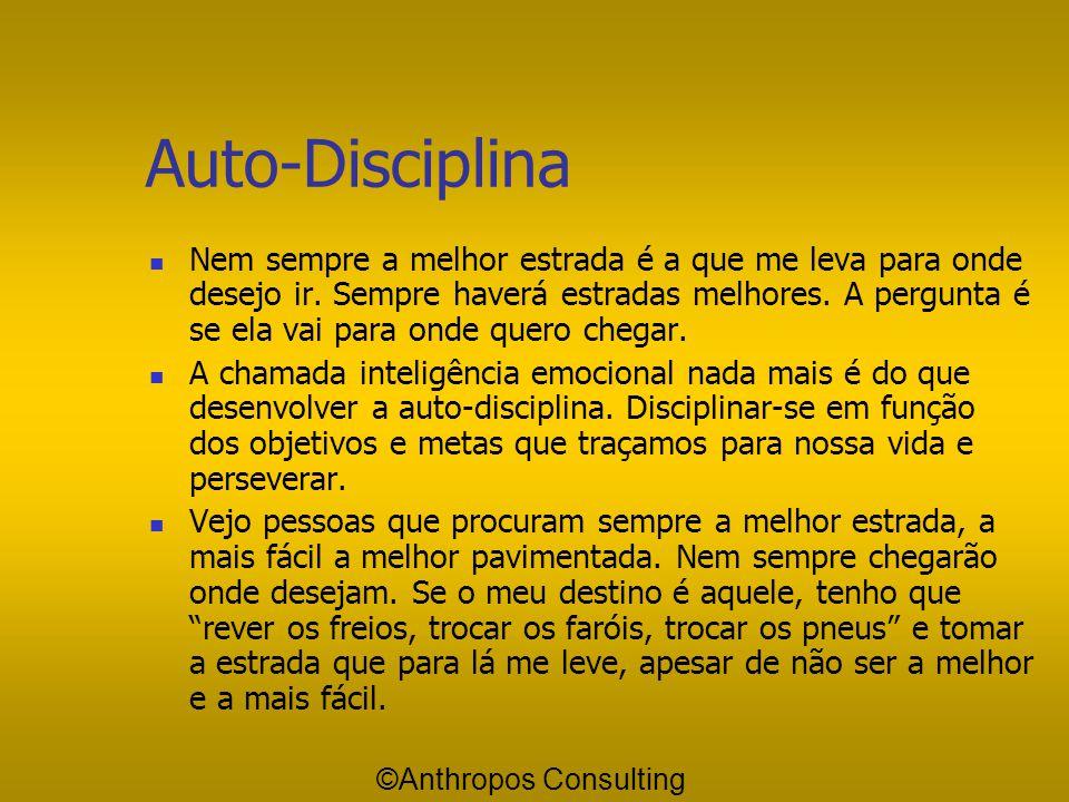 Desenvolva sua Auto-Disciplina Discipline-se em função de seus objetivos Domine o comodismo Faça uma lista de coisas que você precisa vencer em você m