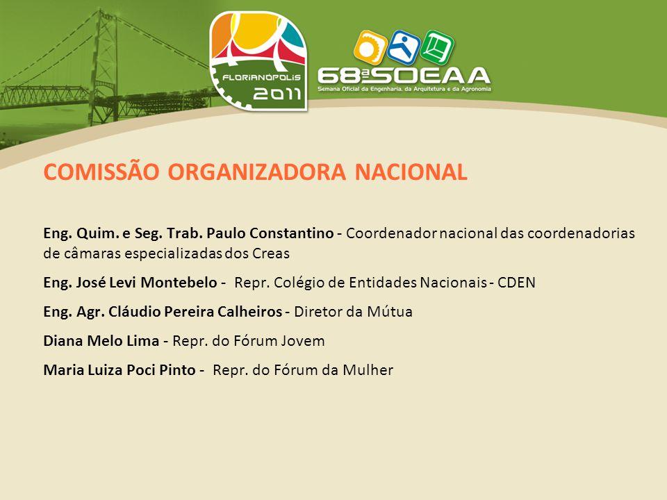 COMISSÃO ORGANIZADORA NACIONAL Eng. Quim. e Seg.