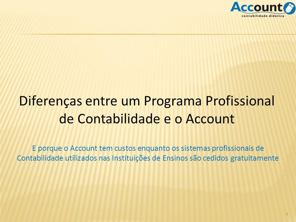 Diferenças entre um Programa Profissional de Contabilidade e o Account 4 E porque o Account tem custos enquanto os sistemas profissionais de Contabili
