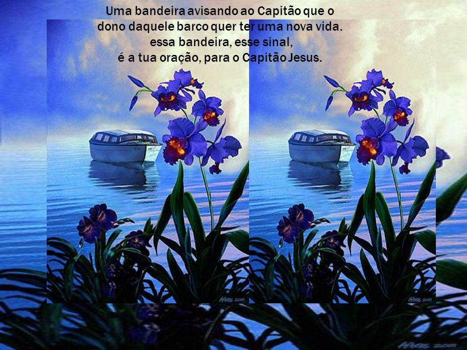 Essa noite, O grande capitão Jesus, vai passar em todo o cais (casa), onde os barquinhos estiverem com um sinal,