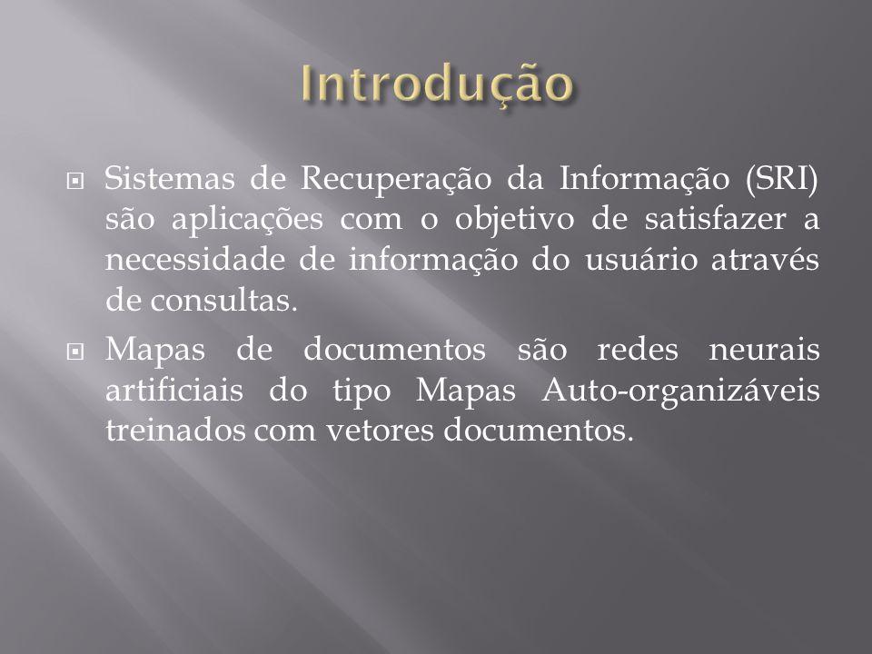  Sistemas de Recuperação da Informação (SRI) são aplicações com o objetivo de satisfazer a necessidade de informação do usuário através de consultas.