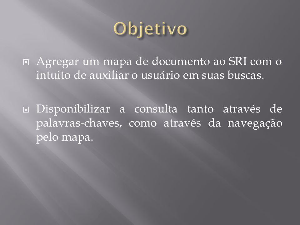  Agregar um mapa de documento ao SRI com o intuito de auxiliar o usuário em suas buscas.  Disponibilizar a consulta tanto através de palavras-chaves