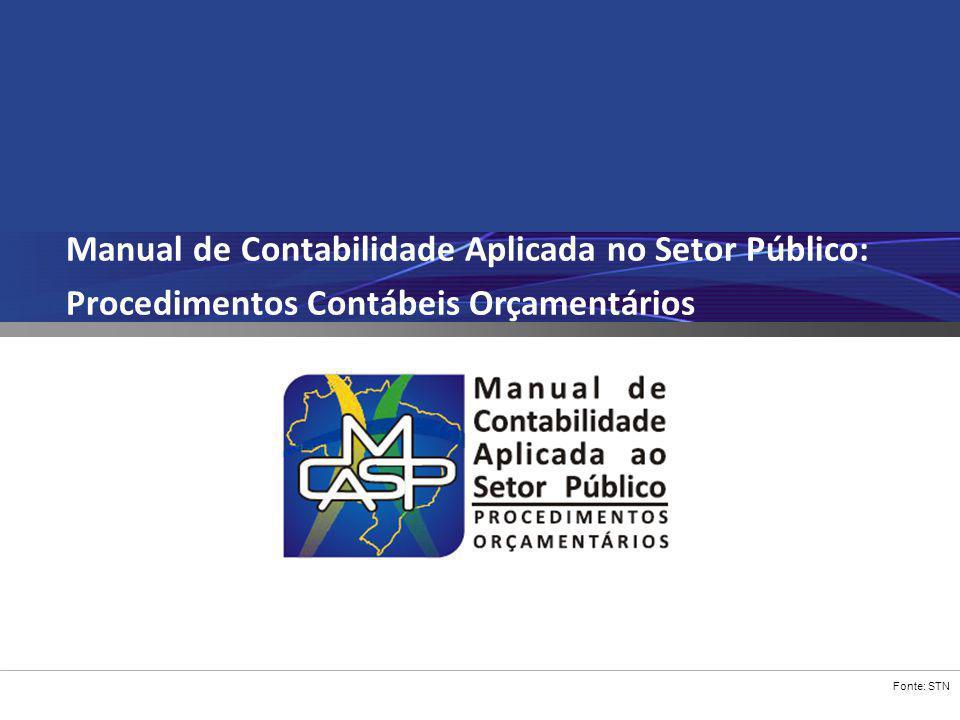 Fonte: STN Manual de Contabilidade Aplicada no Setor Público: Procedimentos Contábeis Orçamentários